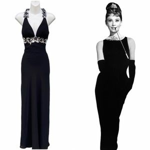 Faviana Couture prom black tie gown dress 0